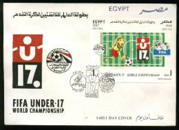EGYPT  COVERS > FDC > 1997 >  S/S > FIFA UNDER 17 WORLD SOCER CUP - Egypt