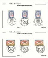 Belgium 1981 Mi. 2051-2052 COB 1999-2000 FDC, 2 Filami Cards, Year Of Disabled, Brain Eye, Drawings By Folon - 1981-90