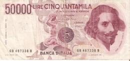BILLETE DE ITALIA DE 50000 LIRAS DEL AÑO 1984 DE LORENZO BERNINI (BANKNOTE) - 50000 Liras
