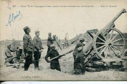 N°30334 -cpa Notre 75  De Campagne Tirant Contre Avions Ennemis Dans La Somme - Guerra 1914-18