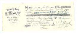 Lettre De Change, Tissus En Gros - G. Blay & Cie - Poitiers (86) - 1915 - Lettres De Change