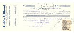 Lettre De Change, Cafés Gilbert - Paris (75)  - 1935 - Lettres De Change