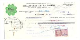 Lettre De Change, Chaussures De La Moine - St-Germain-s/-Moine (49)  - 1959 - Lettres De Change