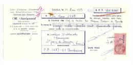 Lettre De Change, M. Savignard - Loudun (86) - 1959 - Lettres De Change