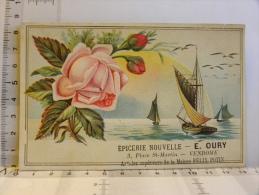 Chromo Gauffrée épicerie Nouvelle E. OURY - Vendome - Articles Supérieurs De La Maison FELIX POTIN (rose Voilier) - Chromos