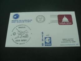SP950a- FDC -USA -1983- Agence Spatiale Europeenne-Spacelab ESA Nasa Postmark- Marshall Space Flight - Etats-Unis