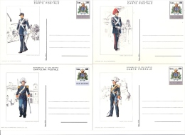 SAN MARINO´S SOLDIER, 8X POSTCARDS STATIONERY, ENTIERE POSTAUX, UNUSED, 1980. - Lettres & Documents