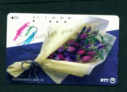 JAPAN - Magnetic Phonecard - Flower(s) As Scan (271-125) - Blumen