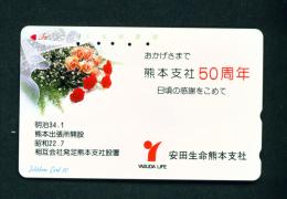 JAPAN - Magnetic Phonecard - Flower(s) As Scan (110-27) - Blumen