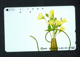 JAPAN - Magnetic Phonecard - Flower(s) As Scan (110-011) - Blumen