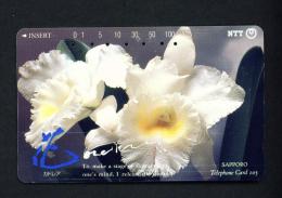 JAPAN - Magnetic Phonecard - Flower(s) As Scan (430-287) - Blumen