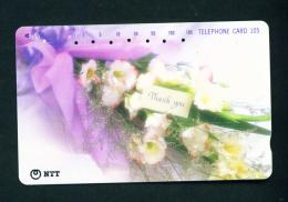 JAPAN - Magnetic Phonecard - Flower(s) As Scan (231-188) - Blumen