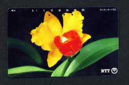 JAPAN - Magnetic Phonecard - Flower(s) As Scan (111-085) - Blumen