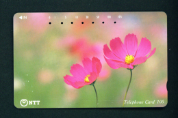 JAPAN - Magnetic Phonecard - Flower(s) As Scan (111-027) - Blumen