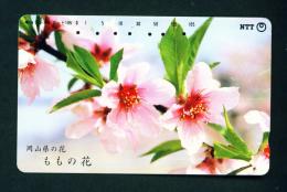 JAPAN - Magnetic Phonecard - Flower(s) As Scan (351-219) - Blumen