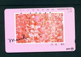 JAPAN - Magnetic Phonecard - Flower(s) As Scan (271-055) - Blumen