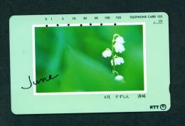 JAPAN - Magnetic Phonecard - Flower(s) As Scan (271-058) - Blumen