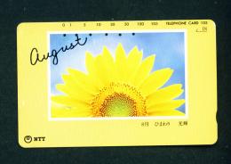 JAPAN - Magnetic Phonecard - Flower(s) As Scan (271-040) - Blumen