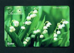 JAPAN - Magnetic Phonecard - Flower(s) As Scan (431-825) - Blumen