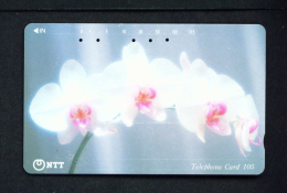 JAPAN - Magnetic Phonecard - Flower(s) As Scan (111-035) - Blumen