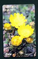 JAPAN - Magnetic Phonecard - Flower(s) As Scan (331-472) - Blumen