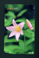 JAPAN - Magnetic Phonecard - Flower(s) As Scan (271-191) - Blumen