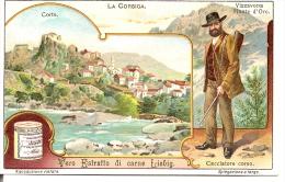 CORSE -  CORSICA - CORTE - VIZZAVONA - Chromo 1910 LIEBIG - Chasseur Corse - Liebig