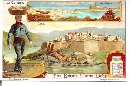 CORSE -  CORSICA - CALVI - L'ILE ROUSSE - Chromo 1910 LIEBIG - Pêcheur Corse - Liebig