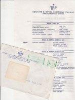 PO9213B# LETTERA + BUSTA COMITATO OLIMPICO NAZ.ITALIANO - MEDAGLIERE MERITI SPORTIVI 1973/76 - OLIMPIADI - Giochi Olimpici