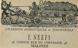 Mechelen -Reclame Postkaart - Charbons  F. Neefs ( Verso Zien ) - Malines