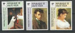 """Hte-Volta YT 361 à 363 """" Tableaux De Pablo Picasso, 3 TP """" 1975 Neuf ** - Upper Volta (1958-1984)"""