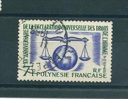 Timbre De Polynésie - Oblitéré - 15 éme Anniversaire De La Déclaration Des Droits De L'homme - Polinesia Francesa