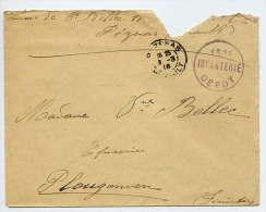 1916--PEZENAS-34--cachet  Armée--153° Infanterie DEPOT Sur Lettre Pour PLOUGONVEN-29 Près Morlaix - Marcophilie (Lettres)