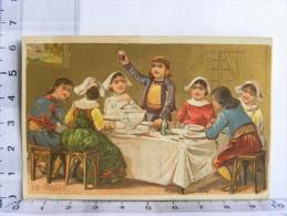 Chromo Epicerie Des Halles FENEANT MICHAU Rue St Nicolas PREUILLY (37) Indre Et Loire - Le Repas, Enfants - Chromos