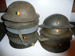 """Casque Belge TOMMY MK 2 """" Plat à Barbe """" ( Fabrication Après 1946 )   Helmet - Casques & Coiffures"""