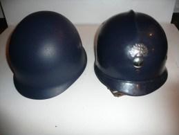 Casque Belge Mle 1962 De Gendarmerie Ou Maintien De L'ordre  Neuf De Stock !!!! - Casques & Coiffures