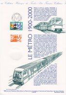 """FRANCE 1999 : Document Philatélique Officiel N° 21 99 516 """" 100 ANS DU METRO """" N° YT 3292. DPO - Transporte"""
