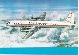 Romania , Roumanie ,  1993 , Airships , IL-18 , Postcard - Airships