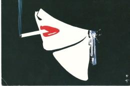 Cpa  René Gruau La Cigarette 1983 - Documents