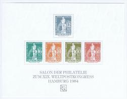 Germany, Salon Der Philatelie, UPU Congress Hamburg 1984