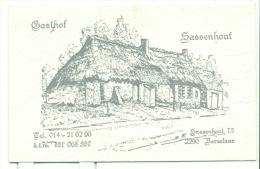 Gasthof Sassenhout - Vorselaar - Cartes De Visite