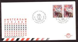 Jaar 1975 - FDC N° 138 -  N° Y/T 1017/17a - AMSTERDAM 700 Jaren. - FDC