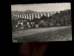 MUSSY SOUS DUN Saône Et Loire 71 : Viaduc Ferroviaire Voie Ferrée Train  1952 Railways Bridge Bahn Zug - France