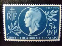 AFRICA EQUATORIAL FRANCESA   A.E.F  Año 1944 Entraide Française   Yvert Nº 197 ** MNH - Nuevos