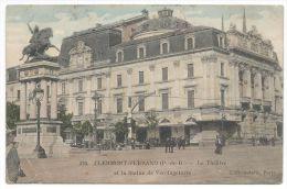 CLERMONT-FERRAND (P.-de-D.) - Le Théâtre Et La Statue De Vercingétorix - N°476 - Animée - Clermont Ferrand