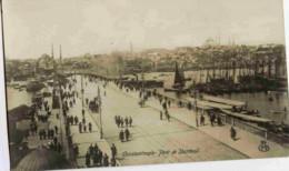 Constantinople-Pont De Stamboul- Cpa Bromure - Turchia