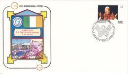 410 (Yvert) Sur FDC Illustrée Commémorant Le Voyage Du Pape Jean-Paul II à Dublin En Irlande - 1979 - FDC