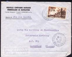 1957  Lettre Avion   De Saint-Denis Pour La France   Brouage  328 Seul - La Isla De La Reunion (1852-1975)