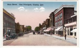 Granby Québec P.Q. Canada - Rue Principale - Main Street - Cars Voitures - Animated - Ed. Peltier - Granby