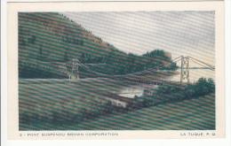 La Tuque Québec P.Q. - Brown Corporation - Pont Suspendu - Suspension Bridge - Ed. L. Audet - Quebec